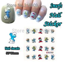 Nail Sticker 1 Sheet Blue Cartoon Spirit Nail Art Water Transfer Sticker Decal Sticker For Nail Art Decoration BLE1603