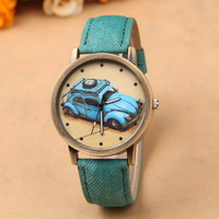 Free shipping! Latest fashion car pattern casual leather watches men, Colorful simple quartz  watch women