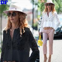 Blusa Feminina Casual Lace Blouse 2015 New Women Short Shirt Plus Size Women Tops Sexy Sheer Lace Blouse High Quality Blouses XL