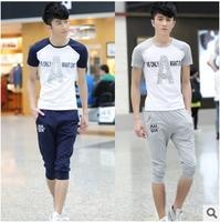 2015 Summer  Men's Sets New Fashion Female Sport Suit Men's Tracksuit Active Mens Sportwear and Sweatshirts Sport Suit Men C2668