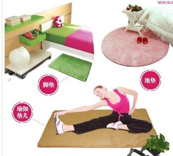 80 * 120 см мода супер мягкий ковер коврик пола коврик в скольжению мат / коврик / коврик / коврик для ванной комнаты 8 цвета бесплатный Shpping