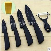 Top quality Ceramic knife 6 inch chef 5 slicing 4 utility 3 ftuit ceramic knife set non-slip kitchen knives + peeler+block