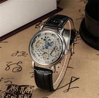 Free shipping! Top grade leather quartz watch women, newest luxury mechanical wrist watch