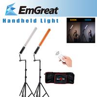 2* Pergear Handheld Magic Bi-color 298PCS LED Ice Light + 2* Magic Support Arm + 2* Mini Studio Light Stand + 75cm Carrying Case