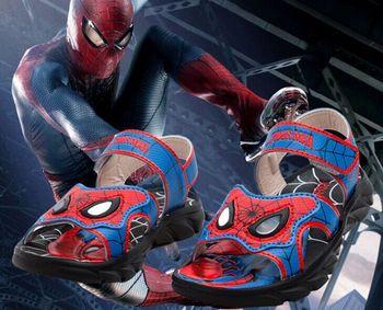 2015 новый летний фильм рисунок паук отличное качество не скользит дети мальчик сандалии обувь
