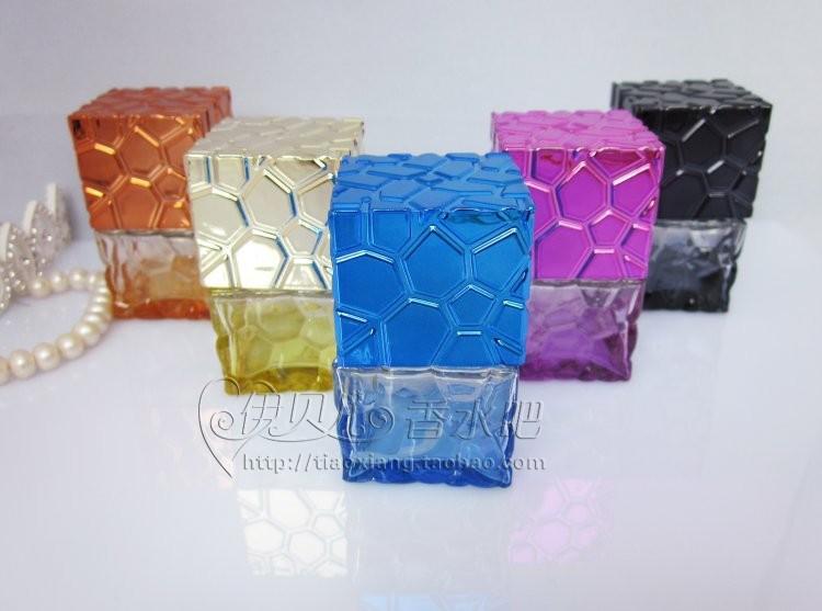 10pcs 20ML Water Cube perfume bottle wholesale colored glass bottles, small bottles spray bottles(China (Mainland))