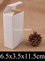 6.5*3.5*11.5cm Cosmetic/Jewerly white paper box 2.6''*1.4''*4.5''  gift boxes,Essential oil box,custom box logo 100pcs/lot