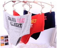 Hot Sale 2015 New Fashion Letters Print Underwear Women s Intimates Panties Low waist Cotton Briefs
