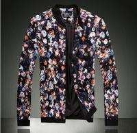 Men's jacket 2015 fashion coat jacket calico jacket men free shipping