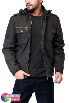 Мужская утепленная куртка-пилот 100% хлопок Let's GO из коллекции весна 2015 из Турции с бесплатной экспресс доставкой ( 14K6632 ) [ BR05 MCM01 TP40 SP06 ]