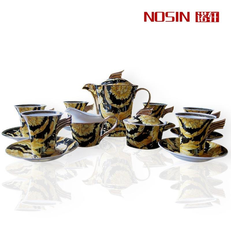 17pcs set Royal bone china coffee cup European creative ceramic coffee drinkware Continental coffee tea cups