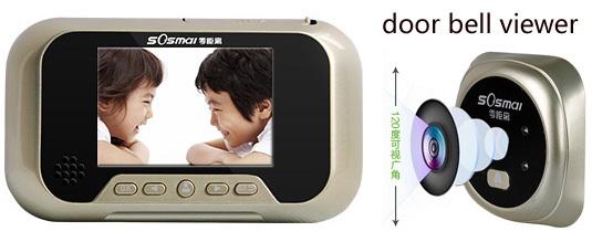 Дверной глазок OEM 100% 3 LCD 0GHF дверной глазок 220