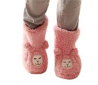 1pair/lot Winter Women Soft Imitation Sheep Alpaca Plush Slippers Warm Cotton Floor Boots Home Slipper Shoes DP673758