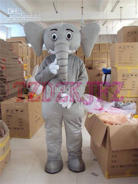 Hot selling 2014 Adult cute Gray elephant Mascot Costumes Fancy Dress Halloween Party Brand Adult Size Suit(China (Mainland))