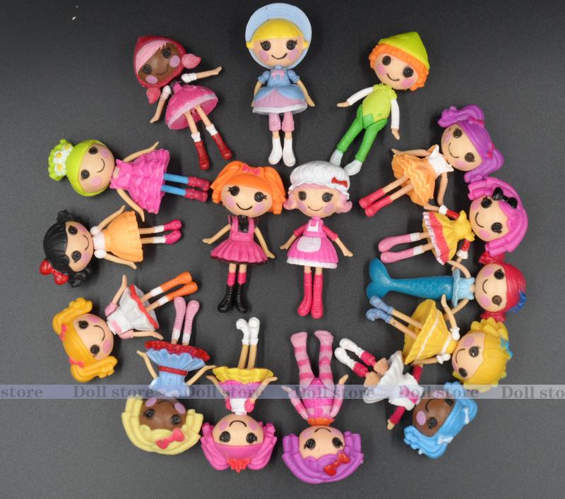 4/8pcs/lot Brinquedos Meninas MGA Mini Lalaloopsy Doll 8cm 3.1inch Bulk Button Eyes toys for girls(China (Mainland))