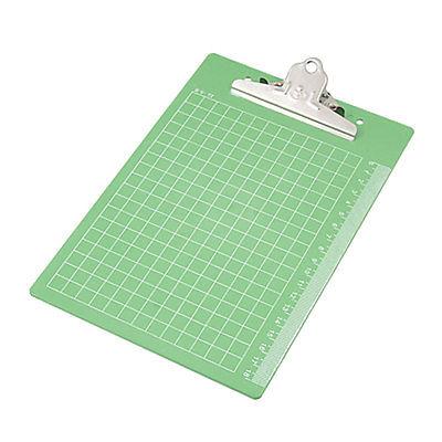 Silver Tone Clip Memo Holder Grn Plastic Writing Board(China (Mainland))