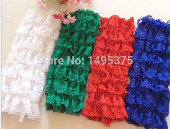 120 pairs/lot младенцы цветок кружево теплее загрузки манжеты