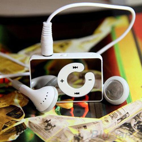 Mini Clip USB MP3 Music Media Player Support 1 8GB Micro SD TF Headphone Cable 2MEV