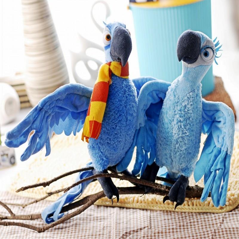 Free Shipping ' Movie Rio Plush JEWEL Parrot Bird & Macaw Blu Stuffed Cute Animal Birds Doll Retail(China (Mainland))