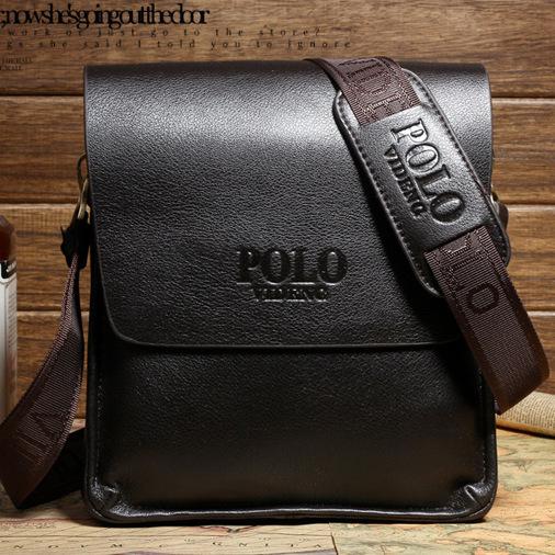 HOT SALE 2015 New men's shoulder bags genuine leather messenger bag high quality man brand business small crossbody polo bag(China (Mainland))