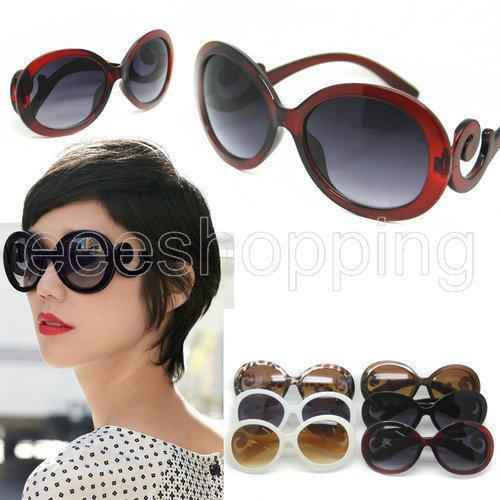 S079 Lady Gaga Women Cool Kpop Retro Vintage Swirl Arms Frame Designer Wayfarer Goggle Anti-UV Sunglasses Glasses Multi Colors(China (Mainland))