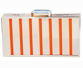 2015 New Designer Stripe Arcylic Case Women Clutch Bag Ladies Purse Handbag Beg Shanel aj bolsas victor begs Hot Selling(China (Mainland))