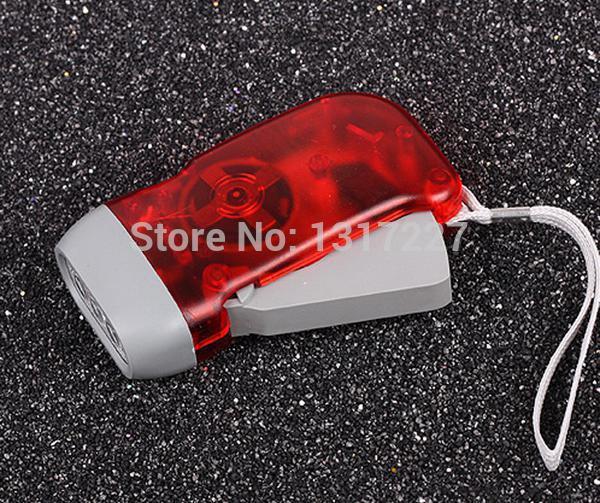 New Hand Press Flashlight Torch No Battery 3 LED Promotion led torch light Free Shipping(China (Mainland))