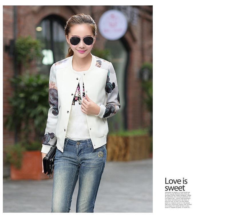 Free Shipping women jackets spring autumn outerwear female jacket short design slim outerwear baseball uniform female jacket(China (Mainland))