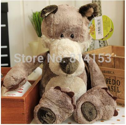 Free Shipping 35cm nici couple wolf plush soft doll animal baby toy for kids birthday gift 2pcs/pair(China (Mainland))