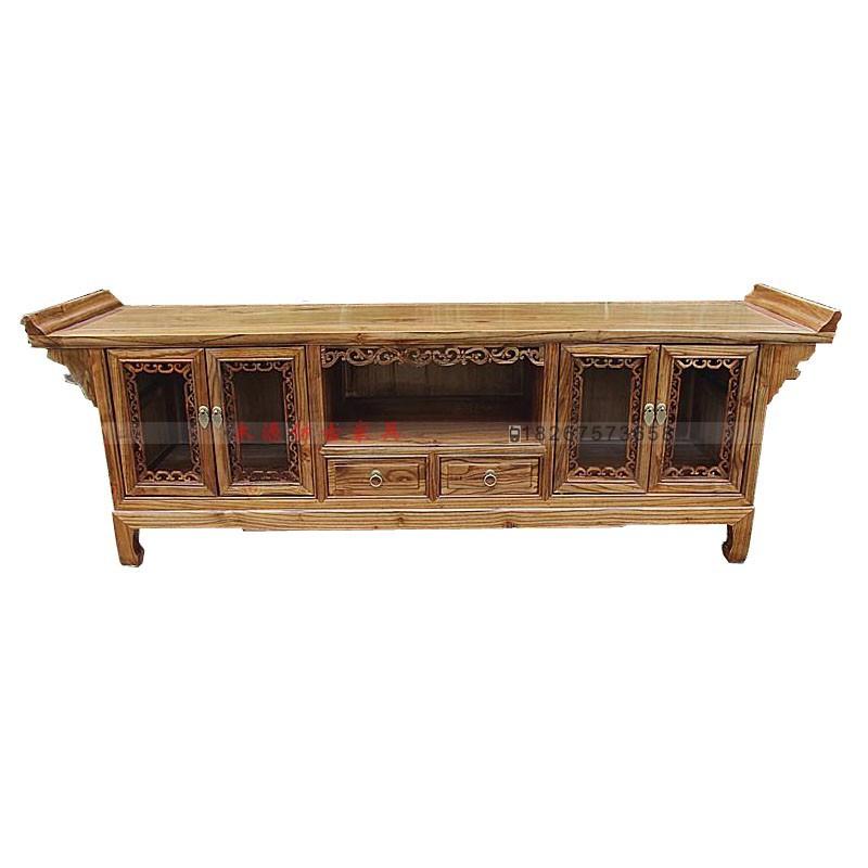 Meubles anciens, Bois massif meuble TV LCD meuble TV chinois Ming et salon TV en bois armoire  # Meuble Sculpté Bois
