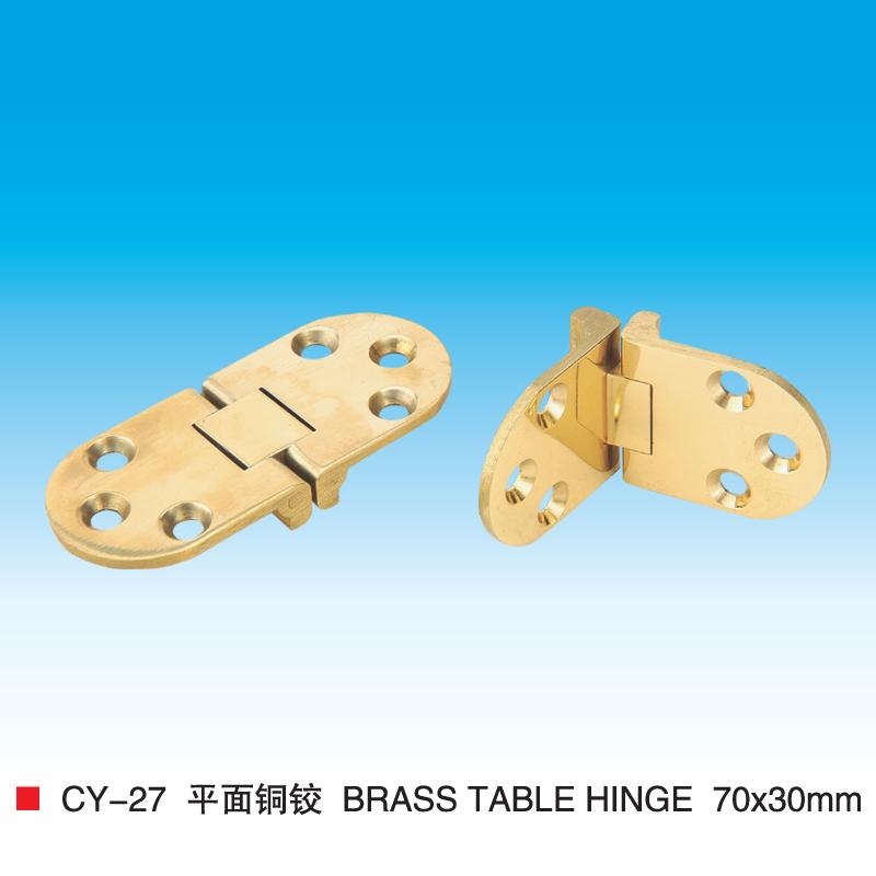 Furniture Hardware imitation gold alloy flat tops hinge Hinge flat round dining table hinge CY27(China (Mainland))