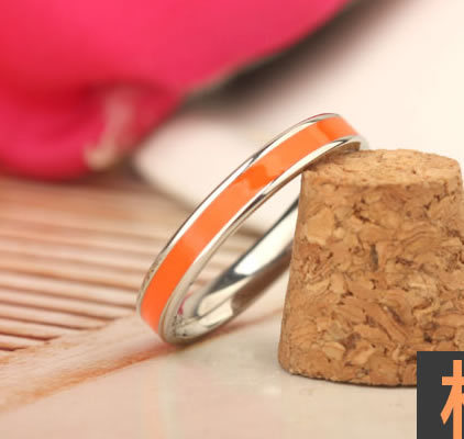 Candy Rings Jewelry Orange Candy Rings 316l