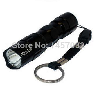 HOT MINI led portable flashlight waterproof flashlight POLICE-3w Camping Illumination mini LED Handheld flashlight by FEDEX DHL(China (Mainland))