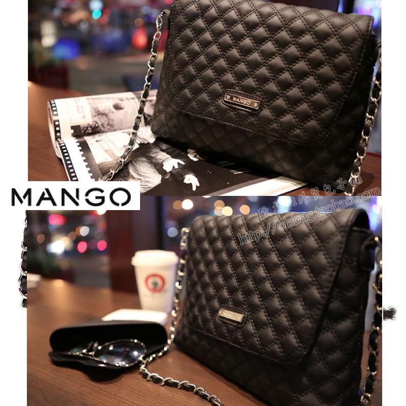 Mng mango fashion one shoulder all-match female small bags chain bag dimond plaid bag(China (Mainland))