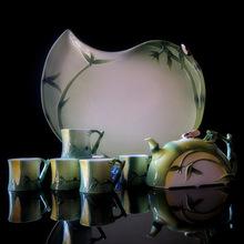 8pcs Tea set Gift Drinkware Kung Fu Tea mug Bone China porcelain Creative Cup wedding gift