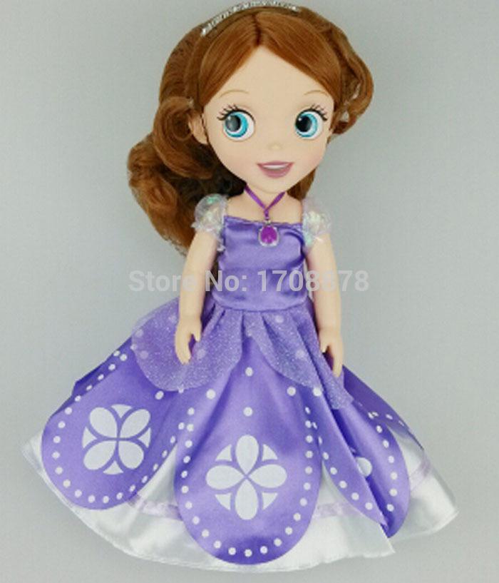 Approx 30cm 12inch Princess Sofia Doll Toy Sofia the First Princess Bobbi Doll Accessories Doll For Kids(China (Mainland))