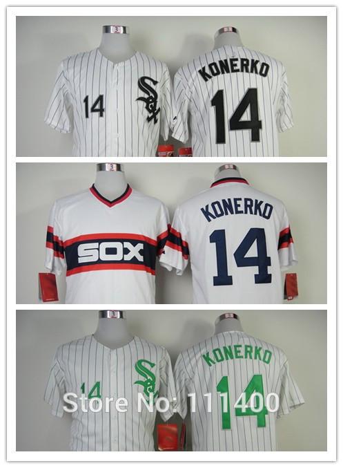 TOP SALE,Popular Free Shipping Mens Chicago White Sox #14 Paul Konerko White, pullover Throwback Baseball Jerseys,Embroidery Log(China (Mainland))