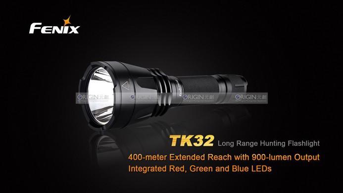 Wholesale - 2014 New Fenix TK32 Long-range Tactical Flashlight Cree XM-L2 LED 900Lumens Dual Tail Switch 18650 Flashlight(China (Mainland))