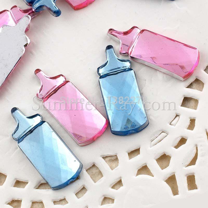 Buy hot 1000pcs lot milk bottle baby for Baby bottle decoration