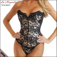 Corselet Sexy Women Corsets And Bustiers 2PC Sexy Corset With Thong Plus Size Women Sexy Gothic Overbust Corset