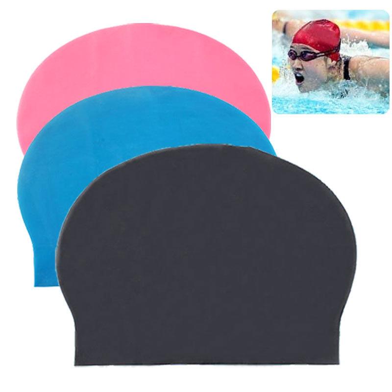 Fashion Durable Sporty Rubber Swim Cap Swimming Hat FFY #3998(China (Mainland))