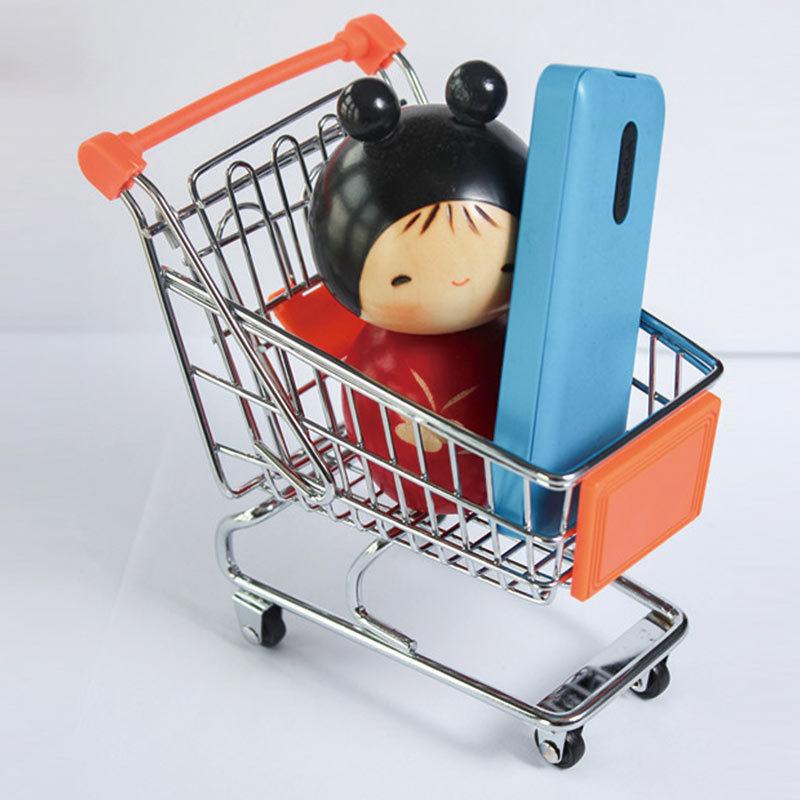 Mini Supermarket Handcart Trolley Shopping Cart Storage Organizer basket/Desk Phone Holder(China (Mainland))