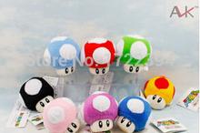 8cm Super Mario plush toys color Mario mushrooms plush doll(China (Mainland))