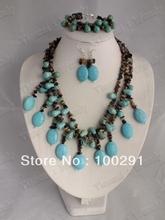 Free ship! Fashion jewelry stone  necklace bracelet earrings 222(China (Mainland))