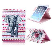 Прекрасный слон флип стенд держатель PU кожаный бумажник чехол обложка для iPad 2 / 3 / 4 с фильм и pen 1 шт. бесплатная доставка