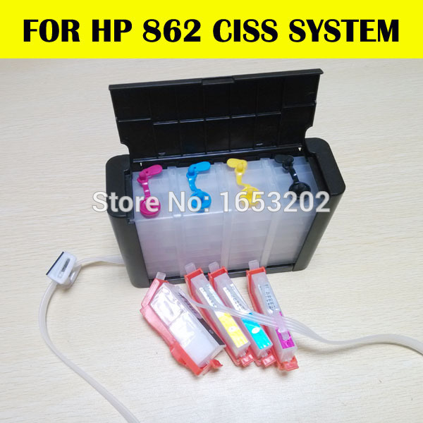 862 Continuous Ink for hp ciss for hp862 printer 5510 6510 B110A B210A with chip