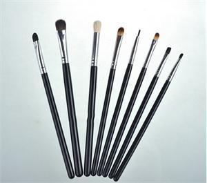 8 Pcs New Black Handle Professional Eye Shadow Makeup Brushe Tools Kit Eye Angled Smoked Brushes Set(China (Mainland))