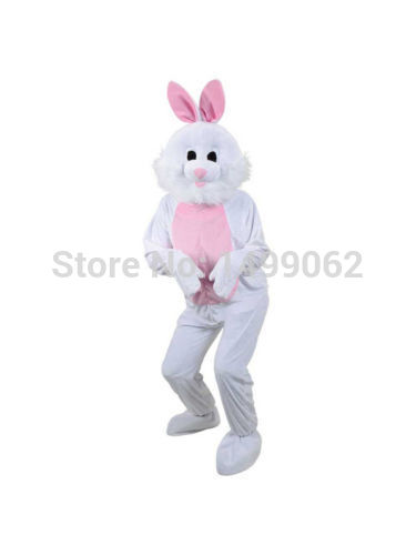 High quality New Style fashion Adult Big Head Easter Bunny Halloween Fancy Dress Animal mascot costume free shipping(China (Mainland))