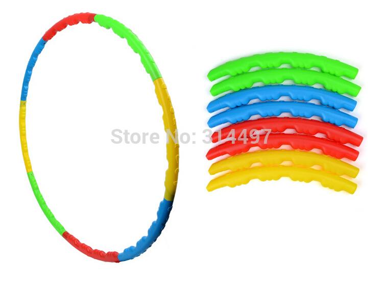 8 Removable Fitness HULA Hoop Plastic Abdominal Massage Hula Hoops Best Weight Loss Equipment 80CM diameters Freeshipping(China (Mainland))