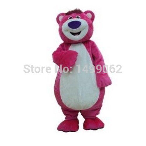 High quality New Style Brand New Lotso bear pink Halloween Fancy Dress Animal mascot costume free shipping(China (Mainland))